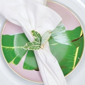 8 Oak Lane Botanical Leaf Napkin Ring - Ship Chic