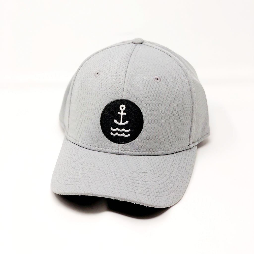 Ship Chic Ship Chic Logo Performance Grey Curved Bill Snap Back - Ship Chic