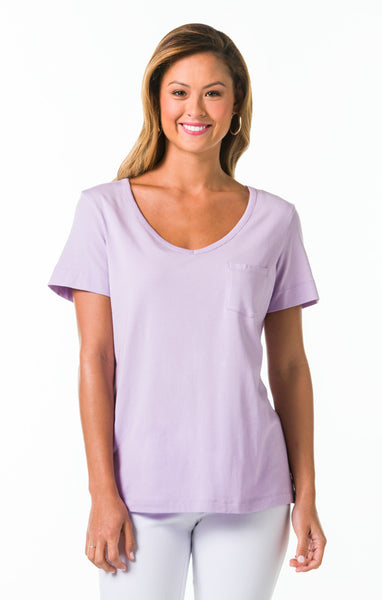Pima Knits Ashley Top - Lilac