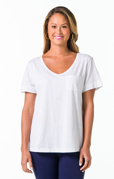 Pima Knits Ashley Top - White