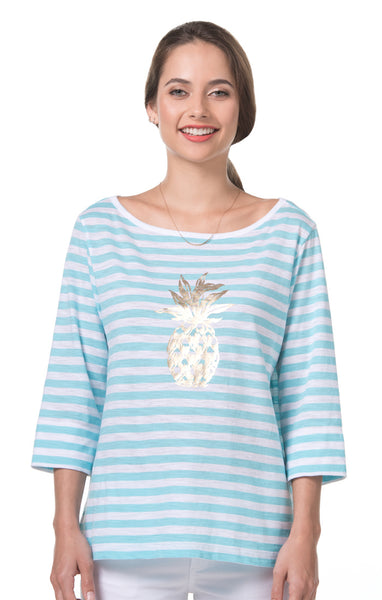 Pineapple T Penny Top