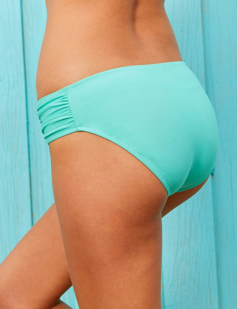 Cabana Life Aqua Side Ruched Bikini Bottom - Ship Chic