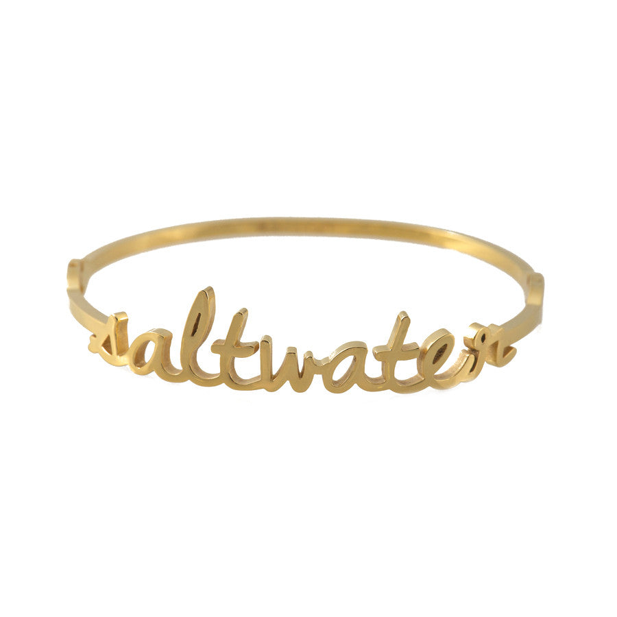 Wanderlust + Co Saltwater Gold Bangle - Ship Chic