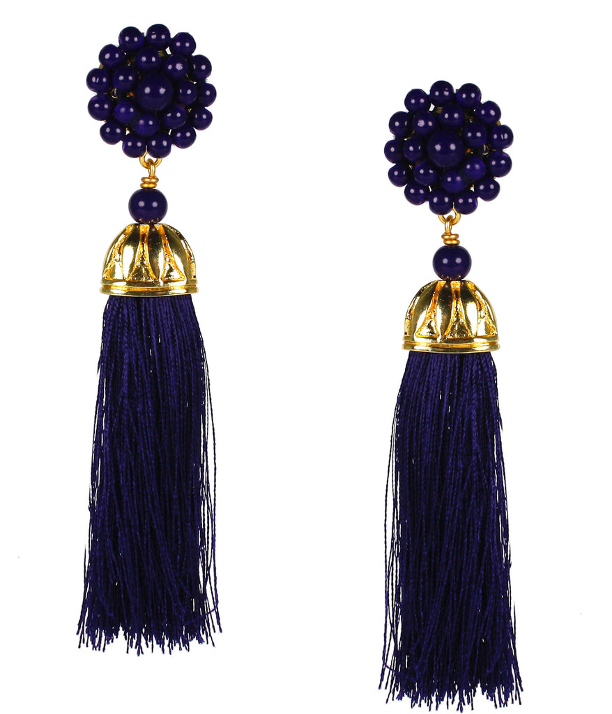 Lisi Lerch Coco Earrings Navy - Ship Chic