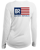 Ladies American Flag L/S - Performance White