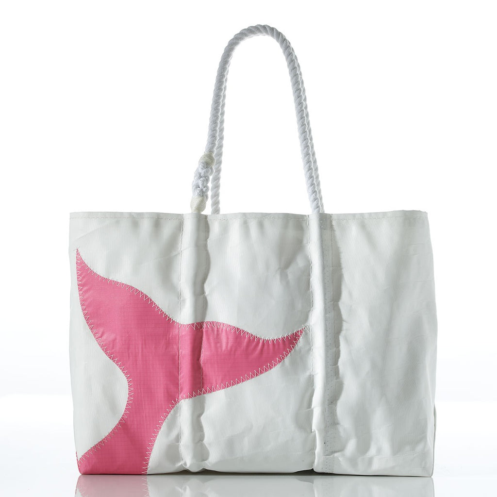 Seabags Large Pink Whale Tail Tote - Ship Chic
