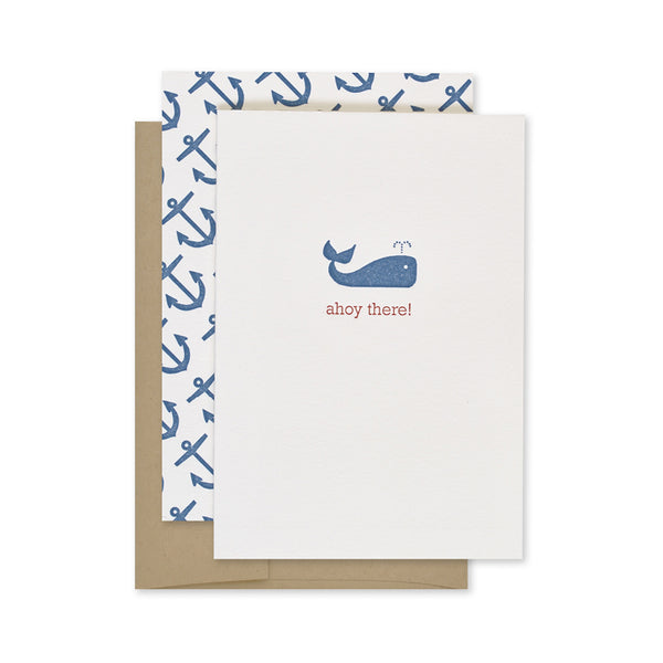 Page Stationery Ahoy There Card - Ship Chic