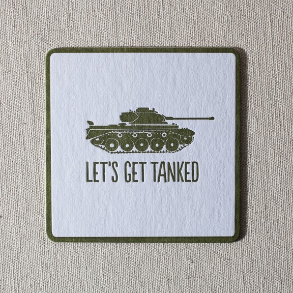 Smock Letterpress & Foil Coaster 12pk Tanked - Ship Chic