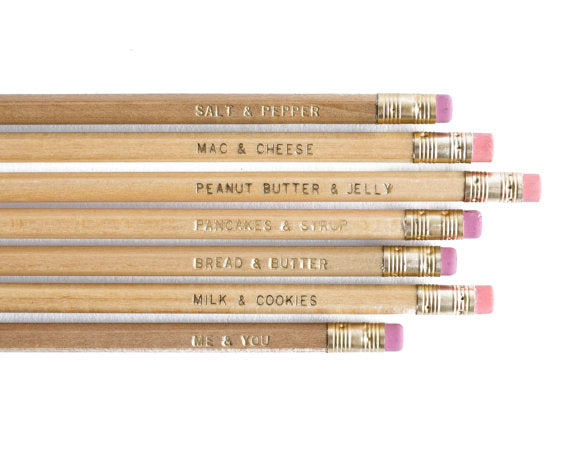 Knot & Bow Pencils: 7 Me & You USA - Ship Chic