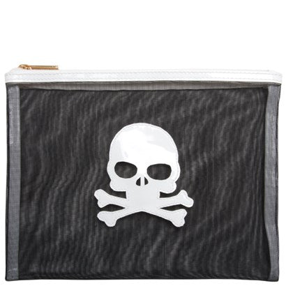 Lolo Black Mesh Stanley w/ White Skull - Ship Chic