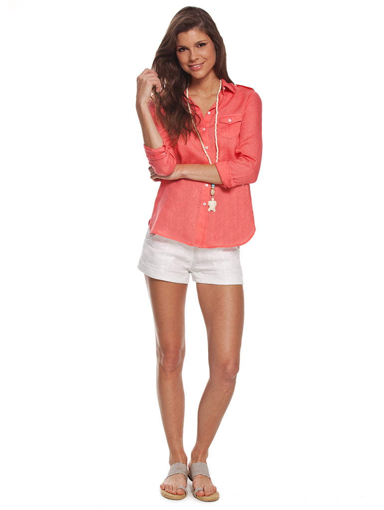 Island Company Commandante Shirt Coral - Ship Chic