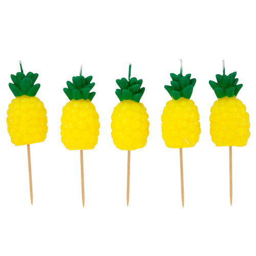 Sunnylife Pineapple Cake Candle 5 Set - Blazing Yellow - Ship Chic
