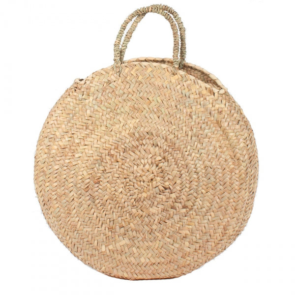 Ship Chic Harbour Island Round Tote - Natural Handle - Ship Chic