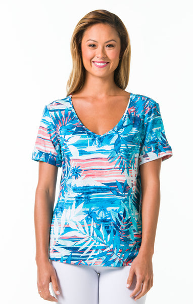 Tori Richard Blue Horizon Bali Top - Ship Chic