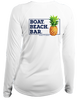 Boaters Republic Ladies Boat Beach Bar - L/S Performance White - Ship Chic