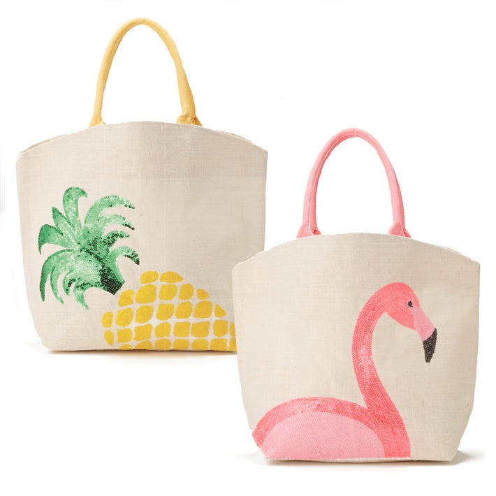Two's Company Pineapple Sequin Tote - Ship Chic