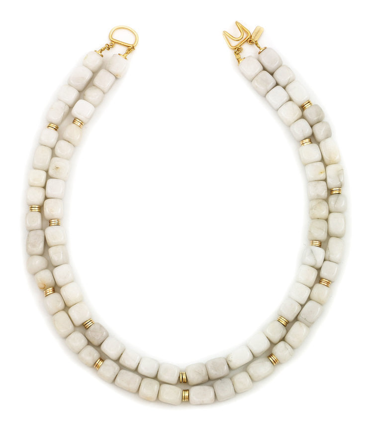 Sylvia Benson, LLC Bally Necklace Powder Lava Rock - Ship Chic