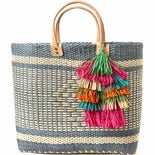 Mar Y Sol Ibiza Tassel Tote in Dove - Ship Chic