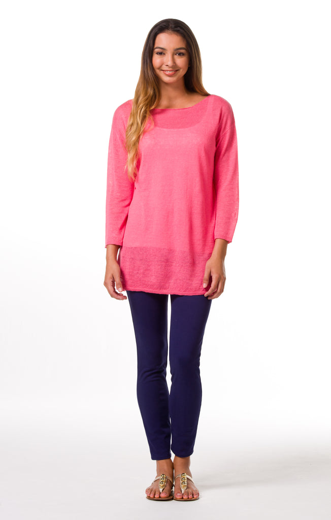 Tori Richard Santorini Knits Aida Sweater - Guava - Ship Chic