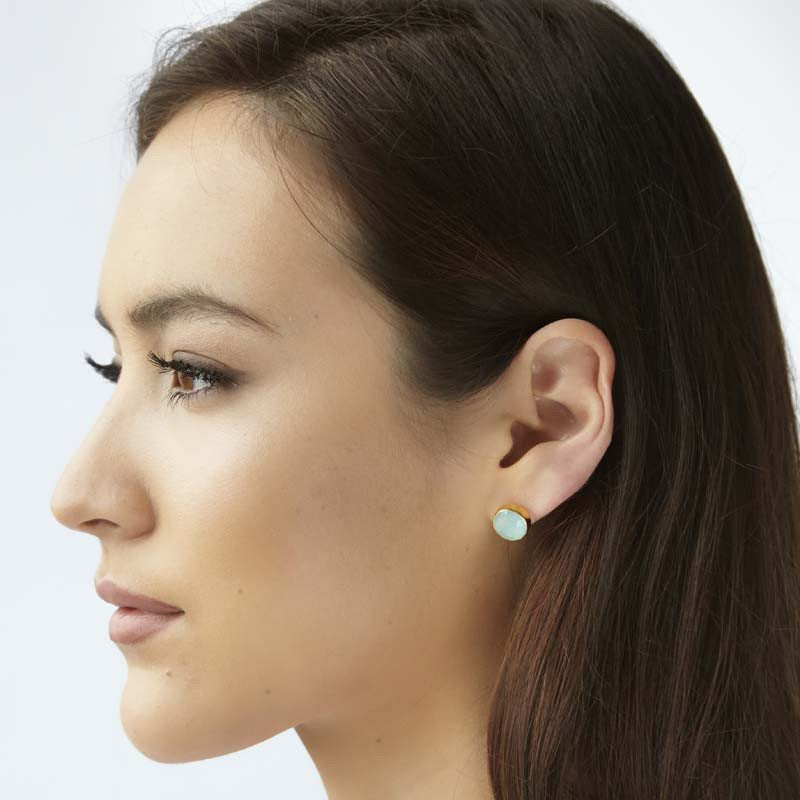 Margaret Elizabeth Mini Studs Moonstone - Ship Chic