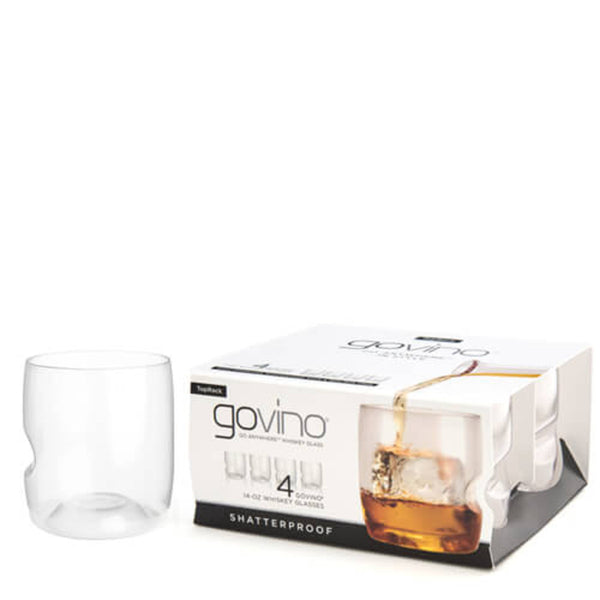 Govino GoVino 14oz Whiskey Glass 4 Pack - Ship Chic