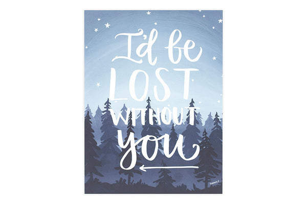 onecanoetwo 9x12 Print Lost Without You - Ship Chic