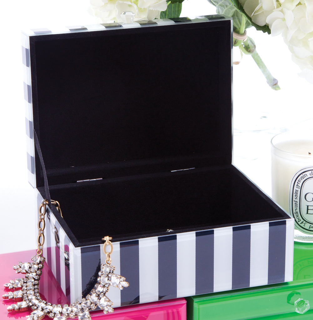 8 Oak Lane Navy Stripe Jewelry Box - Ship Chic