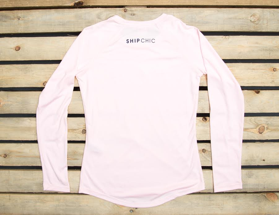 Ship Chic Ship Chic Ladies Performance UPF 40+ L/S Pink - Ship Chic