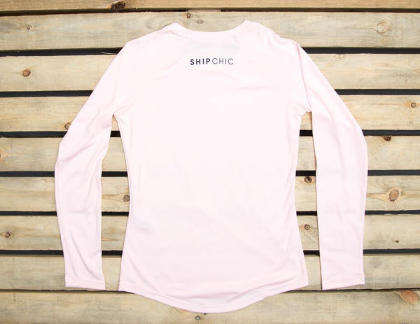 Ship Chic Ladies Performance UPF 40+ L/S Pink
