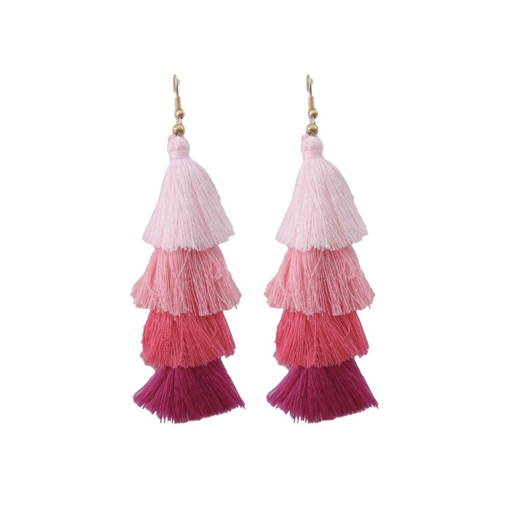Stacked Tassel - Pink Ombre