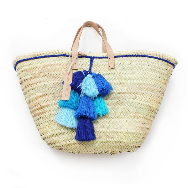 Ship Chic Abaco Island Tote - Blue Tassels - Ship Chic
