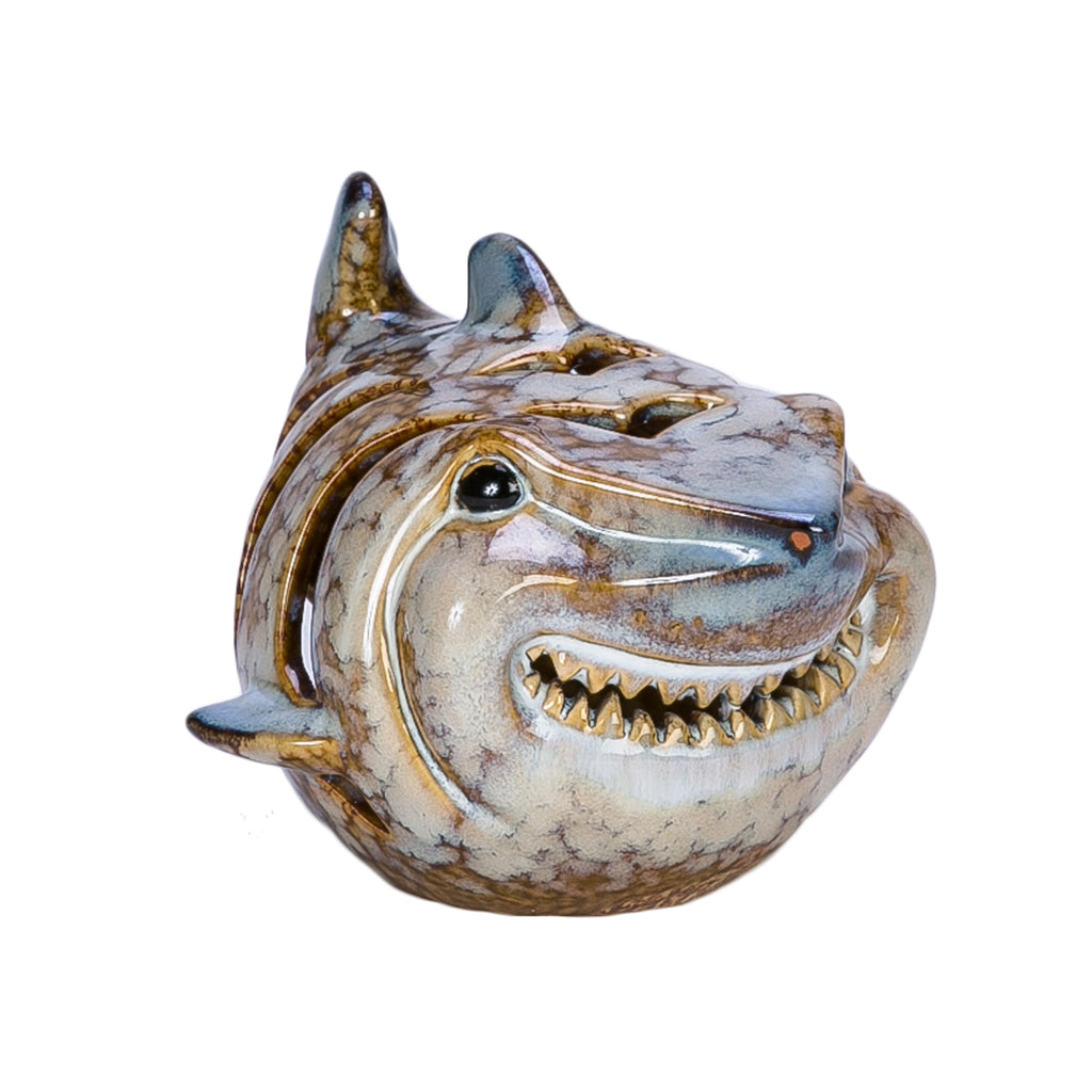 Beachcombers Coastal Life Bruce Shark Candle Holder - Ship Chic