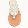 Palm Beach Sandals Ocean Ave Platinum/Platinum - Ship Chic