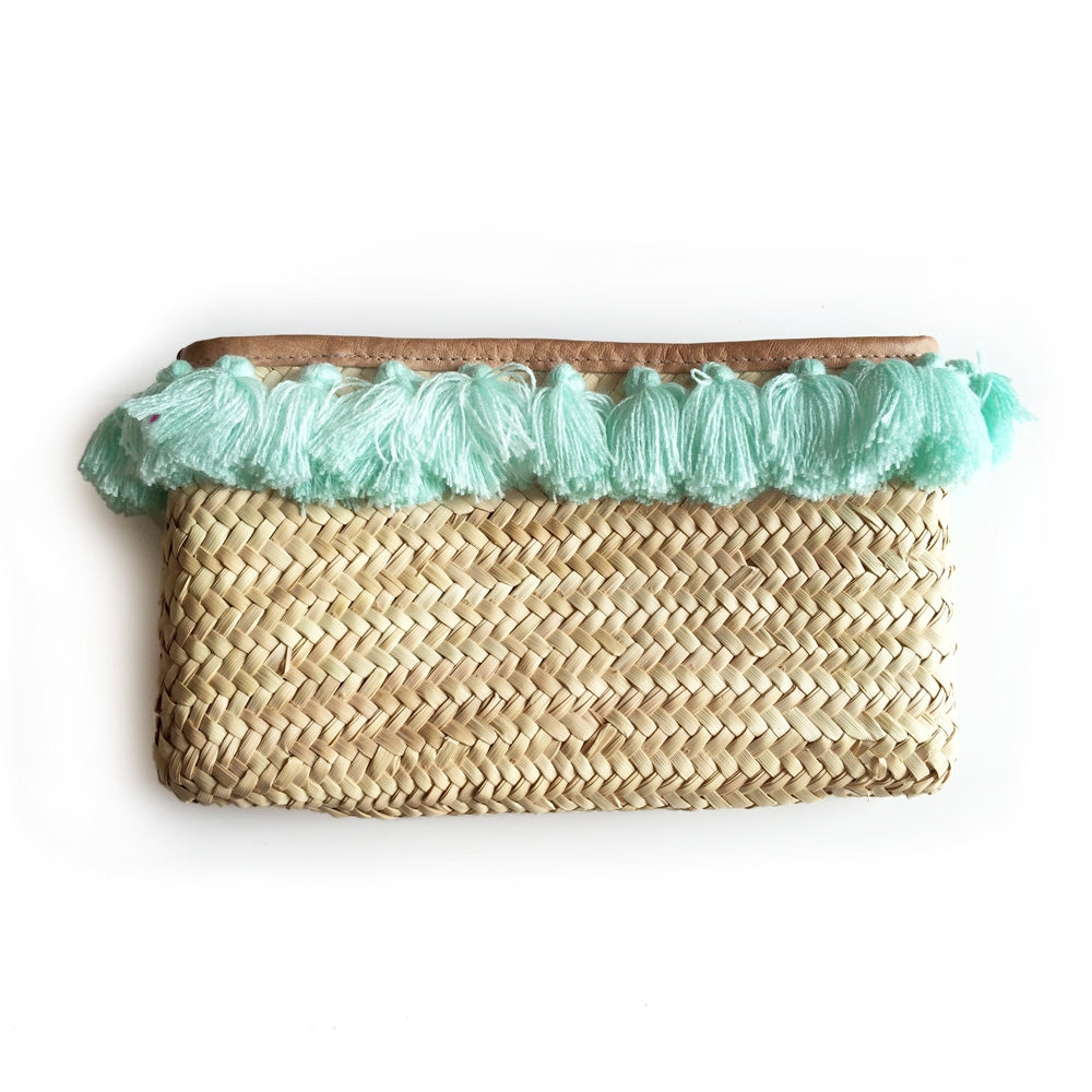 Island Days Clutch - Lagoon Tassels