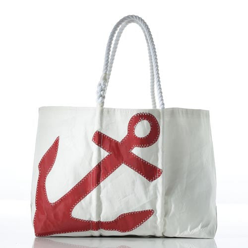 Seabags Large Red Anchor Tote - Ship Chic