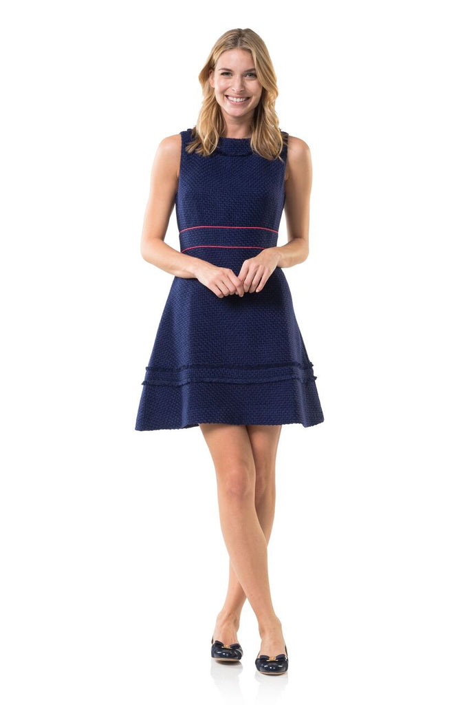 Sail to Sable Navy in New York Flare Dress - Ship Chic
