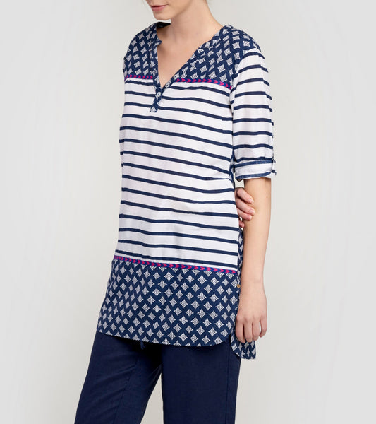 Hatley Navy Stripe & Chevron Tunic - Ship Chic