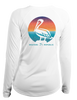 Ladies Sunset Pelican - L/S Performance White