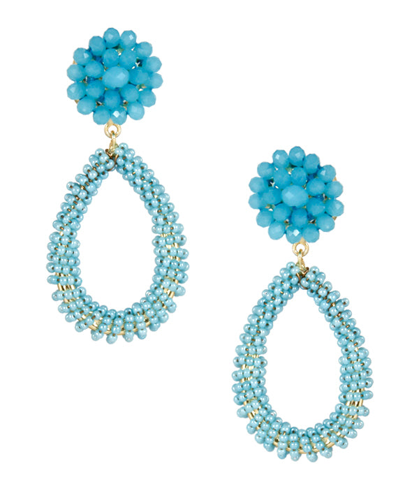 Lisi Lerch Kate Earrings Aqua - Ship Chic