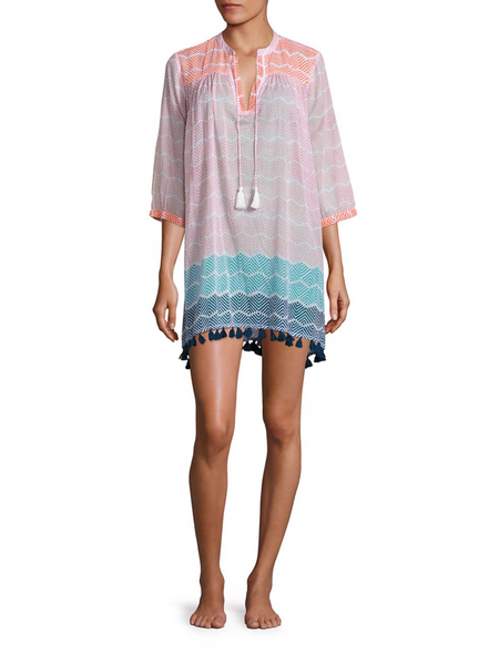 Serafina Tunic with Fringes in Chasca