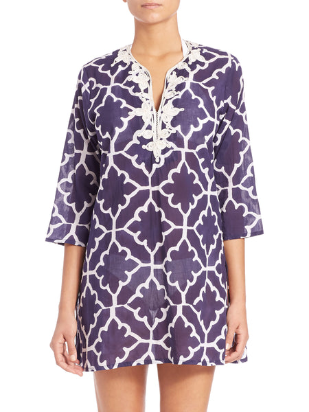 Meena Kurta Monaco Pool Cotton Tunic