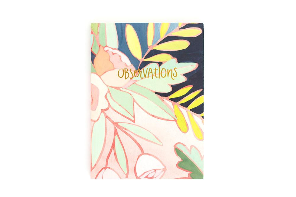onecanoetwo Floral Foil Notebook 5x7 - Ship Chic