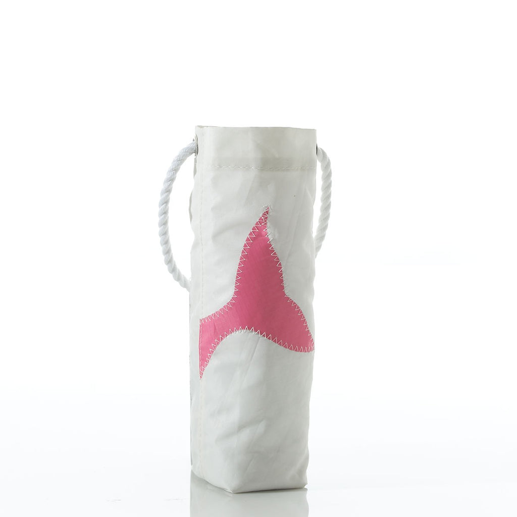 Seabags Pink Whale Tail Wine Bag - Ship Chic