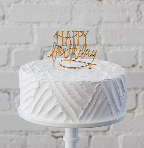 Belle & Union Happy Birthday Cake Topper - Ship Chic