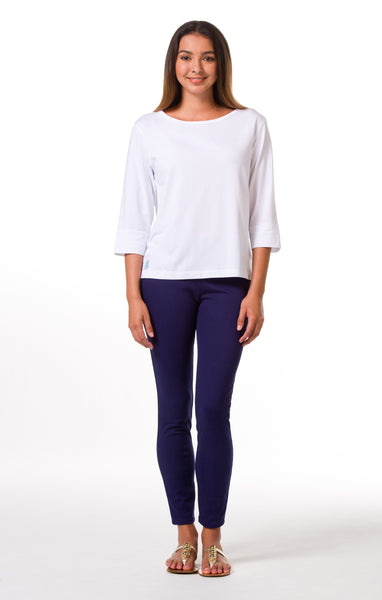 Tori Richard Pima Knits Penny Top - White - Ship Chic