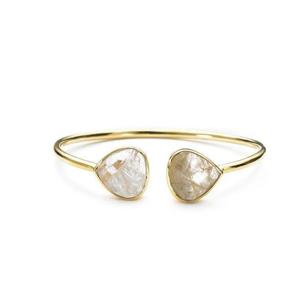 Teardrop Bangle Golden Rutilated Quartz