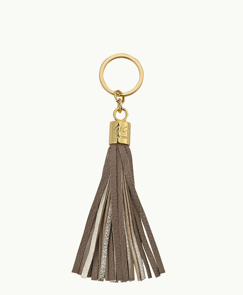 GiGi New York Tassel Key Chain - Driftwood and Gold - Ship Chic