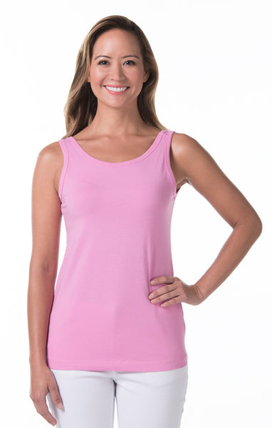 Tori Richard Pima Knits Paige Tank - Pink - Ship Chic