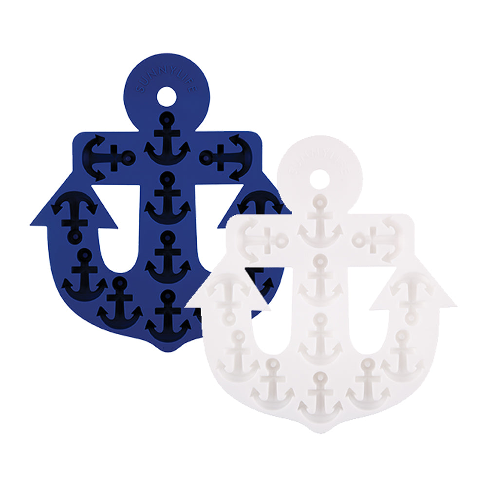 Sunnylife Anchor Ice Tray 2Set - Blue White - Ship Chic