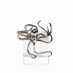 Decorative Silver Octopus
